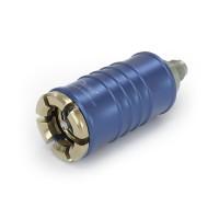 """WEH® Adapter TW108 zum Füllen von Kältemitteln bei Wartung von Kfz-Klimaanlagen nach SAE J639, Rohr Ø 11, blau (Niederdruck), max. 35 bar, Zuleitung UNF 5/8""""-18 AG (SAE J513 - 45°)"""