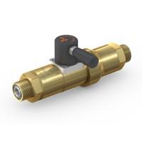 WEH® Schaltventil TV17GR für inerte Gase, Manuelle Betätigung, Absperrventil mit Rückströmsicherung, DN12, 420 bar