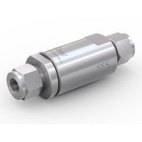 WEH® Rückschlagventil TVR2 mit Rohr Ø 12 beidseitig, DN 10 mm, Edelstahl, Kegelabdichtung