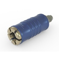 """WEH® Adapter TW111 zum Füllen von Kältemitteln an Schrader-Ventilen 1/4"""" SAE,  blau (Niederdruck),  Chloropren Dichtung, max. 42 bar,  gerade Mediumzuleitung UNF 7/16""""-20 AG"""