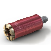 "WEH® Adapter TW111 zum Füllen von Kältemitteln an Schrader-Ventilen 1/4"" SAE,  rot (Hochdruck), Chloropren Dichtung, max. 42 bar,  gerade Mediumzuleitung UNF 7/16""-20 AG"
