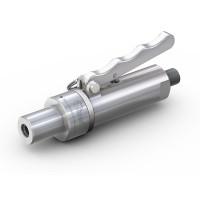 """WEH® Adapter TW141 für Glattrohre, Rohr AD 22,2 mm (7/8""""),  Handhebelbetätigung, Vakuum bis max. 100 bar"""