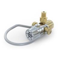 WEH® Adapter TW920 zum Füllen von Kältemitteln an Flaschenventilen mit Außengewinde und Restdruckventil, Bügelbetätigung, max. 40 bar