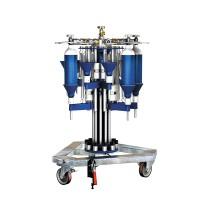 WEH® Füllstand TS200 / TS250 radialer, drehbarer Flaschenfüllstand für Gasflaschen unterschiedlicher Größe bis 10 l Nenninhalt